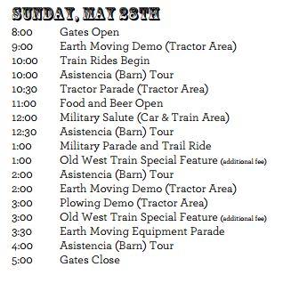 2017 schedule Sunday